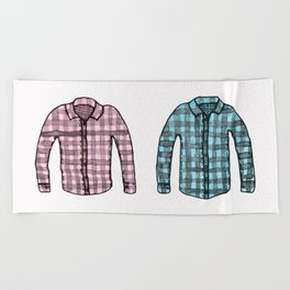 Flannel shirts Beach Towel