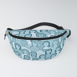 Together Strong - Women Power Watercolor Teal Blue Fanny Pack
