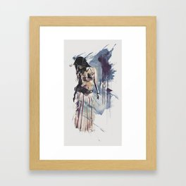 Bellydancer Abstract Framed Art Print