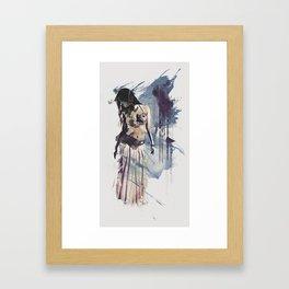 Bellydancer Abstract Framed Art Print
