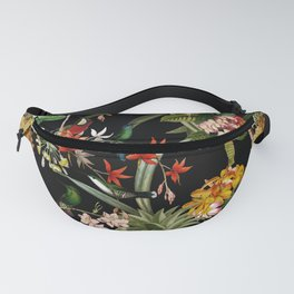 Vintage & Shabby Chic - Midnight Tropical Garden IV Fanny Pack