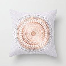 Rose Gold Blush Mauve Mandala Throw Pillow