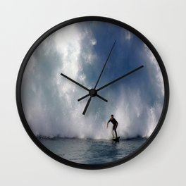 Surfing At The Wedge In Newport Beach, Califonia Wall Clock