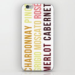 Wine Typography Spectrum iPhone Skin