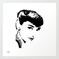 audrey hepburn Art Prints featuring Audrey Hepburn by Saundra Myles