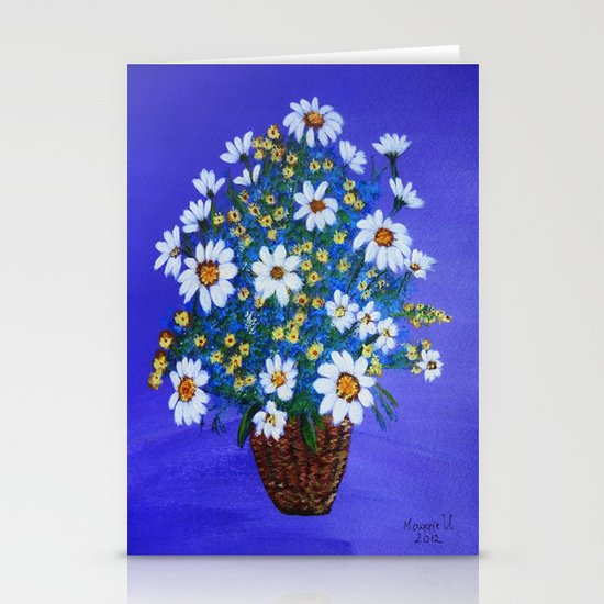 Flowers in the basket Stationery Cards