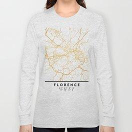 FLORENCE ITALY CITY STREET MAP ART Long Sleeve T-shirt