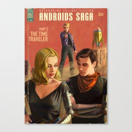 Androids Saga - The Time Traveler Canvas Print