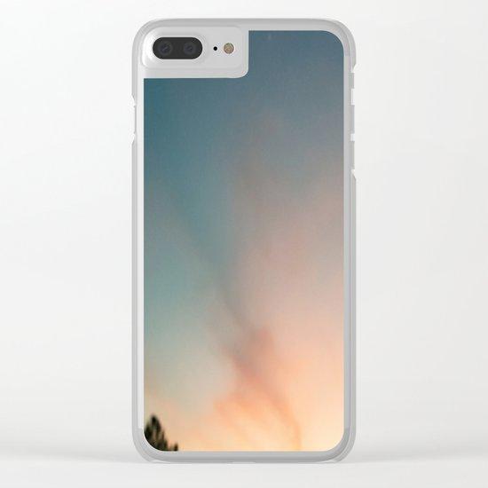 Aqua sky Clear iPhone Case