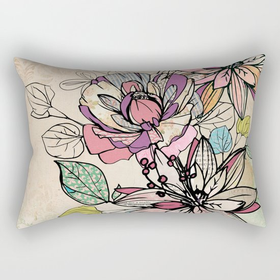 Paper Flowers #6 Rectangular Pillow