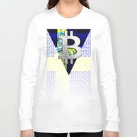 sweden Long Sleeve T-shirts featuring bitcoin sweden by seb mcnulty