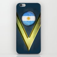 argentina iPhone & iPod Skins featuring Argentina by ilustrarte