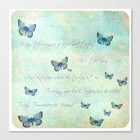 butterflies Canvas Prints featuring Butterflies by secretgardenphotography [Nicola]