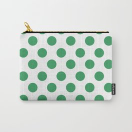 Kelly Green Medium Polka Dots Carry-All Pouch