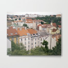Prague Rooftops Metal Print