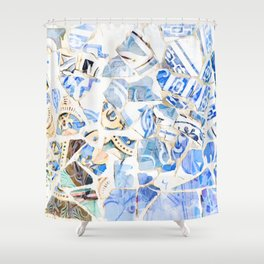 Mosaic of Barcelona XII Shower Curtain