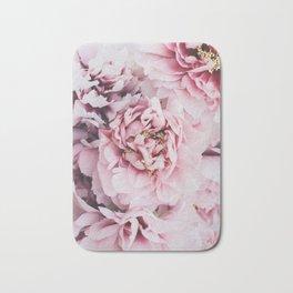 Pink Blush Peonies Bath Mat