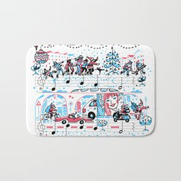 Jingle Bells Bath Mat