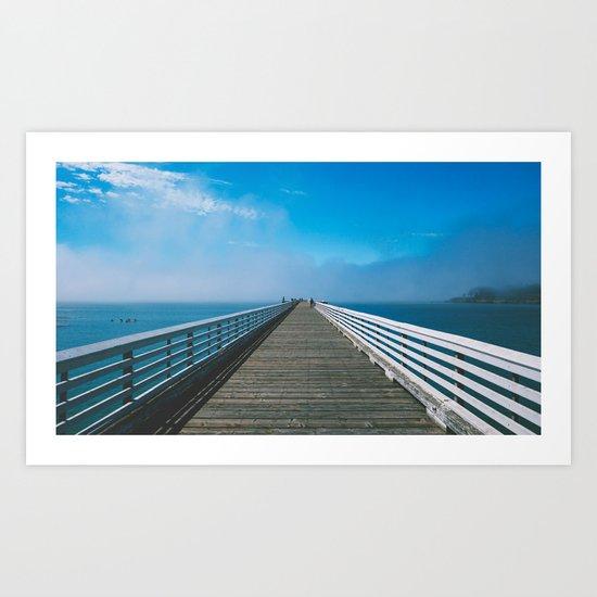 Boardwalking Art Print