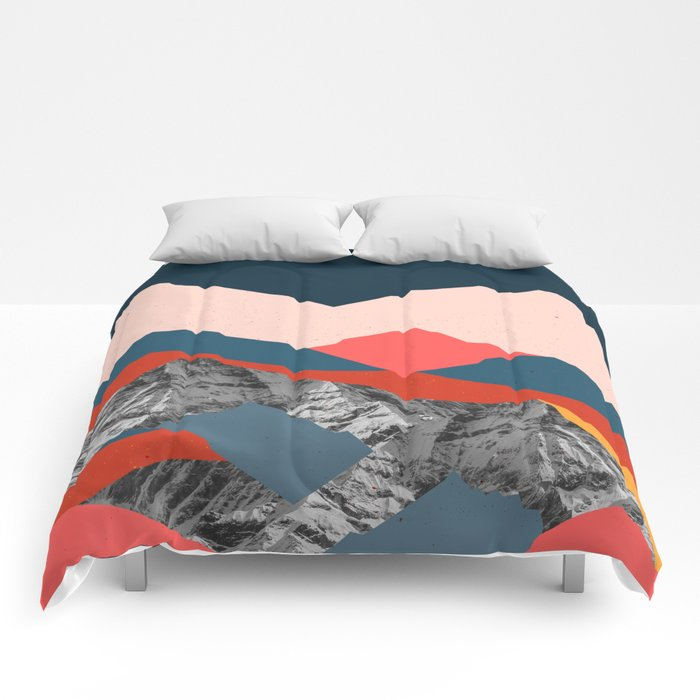 graphic mountains x comforters by hellograce society6