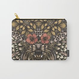 Tiger and flowers Carry-All Pouch