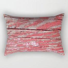 Peeled Paint on Wood rustic decor Rectangular Pillow
