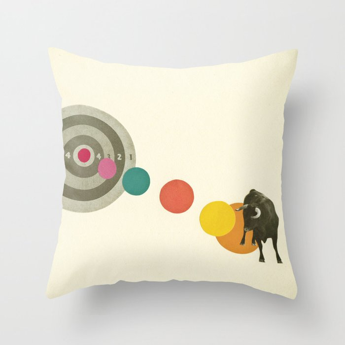 Bull's Eye : Taurus Throw Pillow