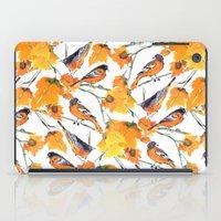 lindsay lohan iPad Cases featuring Birds in Autumn by Jacqueline Maldonado