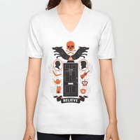 221b V-neck T-shirts featuring 221B by Wharton