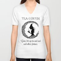 coven V-neck T-shirts featuring TEA COVEN by Tea Coven