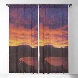 wake up & smell the campfire Blackout Curtain
