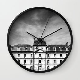 Hermine Castle Monochrome Wall Clock