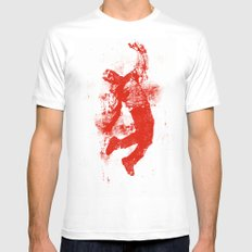 The Light #2 Mens Fitted Tee MEDIUM White