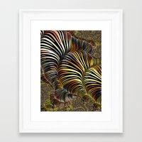 striped Framed Art Prints featuring Striped by Amanda Moore