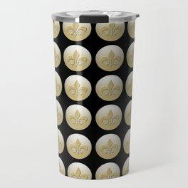 Nola Gold,,,gold, black Travel Mug