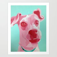 jack russell Art Prints featuring Jack Russell by Caroline Ward