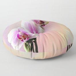 Pastel Rainbow Orchid Floor Pillow