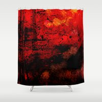 dna Shower Curtains featuring Óleo DNA by Tony Vazquez