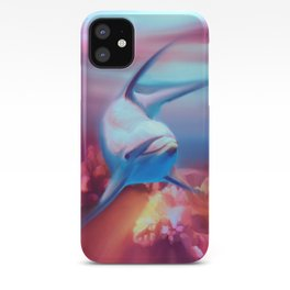 Underwater Dolphin Painting iPhone Case