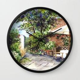 Terrace of The Manor House Wall Clock