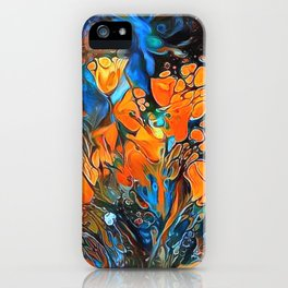 Golden Poppies in the Wind iPhone Case