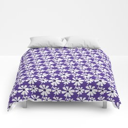 Summer Daisies on Purple Comforters