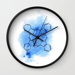 Phthalo blue Wall Clock