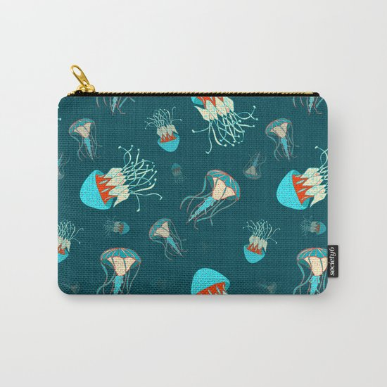 Flow jellyfishes Carry-All Pouch