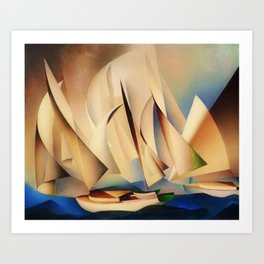 American Masterpiece 'Pertaining to Yachts and Yachting' by Charles Sheeler Art Print