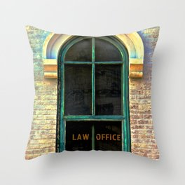 Law Office Throw Pillow