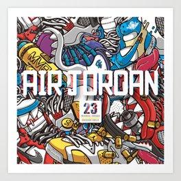 Jordan Sneaker Pattern illustration Art Print