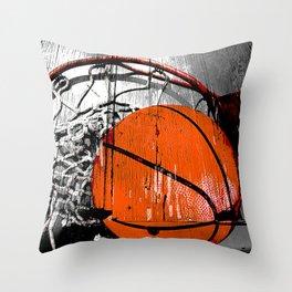 Modern Basketball version 1 Throw Pillow