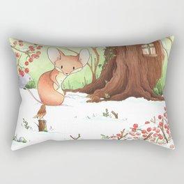 Mouse and bird Rectangular Pillow
