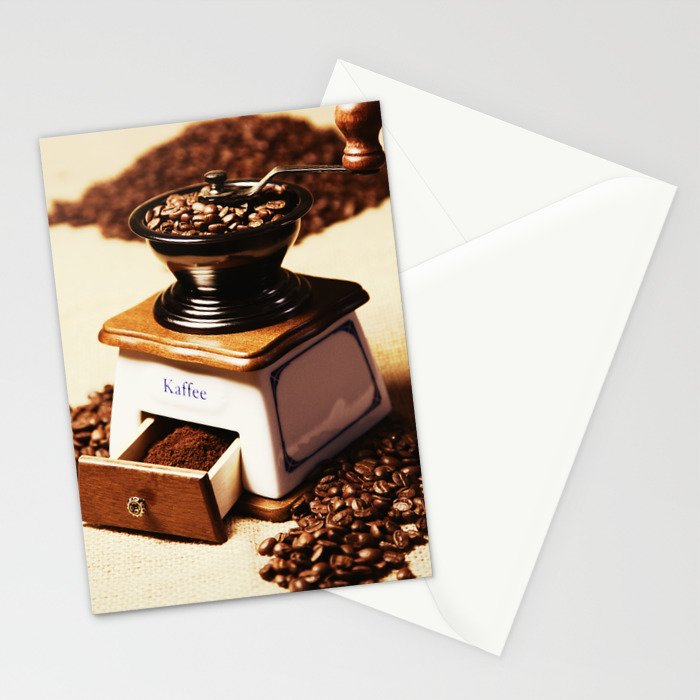 coffee grinder 4 Stationery Cards